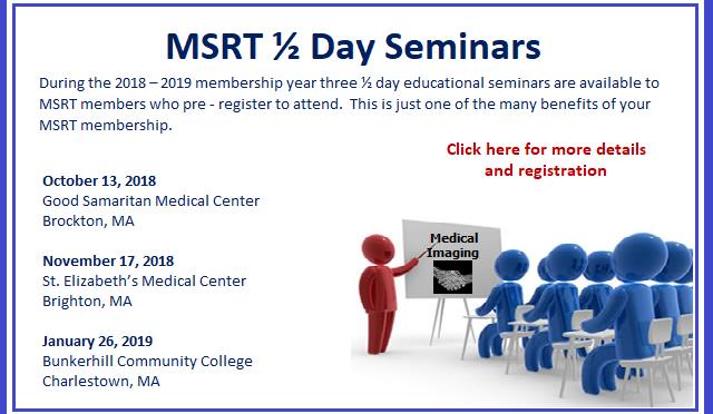 1/2 Day Seminar | Massachusetts Society of Radiologic